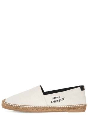Logo Cotton & Linen Canvas Espadrilles