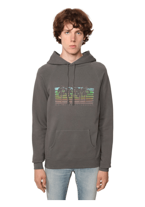 Saint Laurent Malibu Print Cotton Hoodie