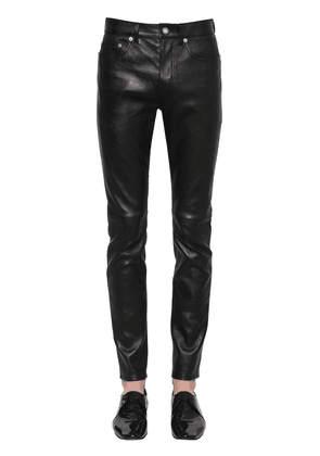15.5cm Cropped Skinny Leather Jeans