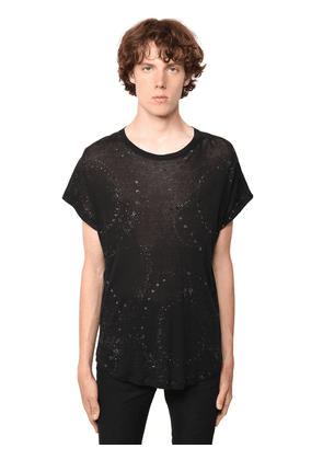 Galaxy Glittered Sheer Cotton T-shirt