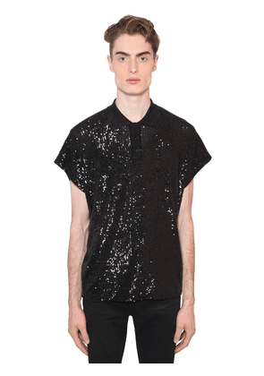 Sequined Lurex Jersey Polo