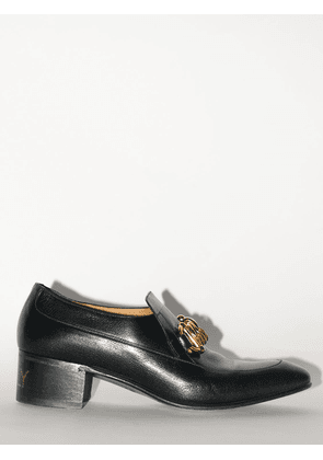 50mm Chain Leather Loafers
