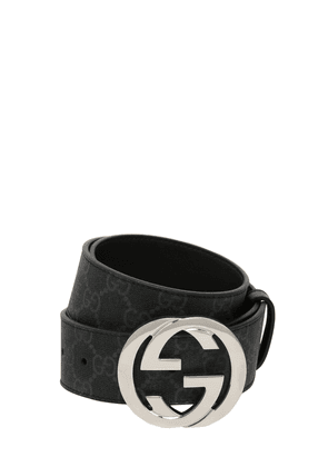 40mm Gg Supreme Logo Leather Belt