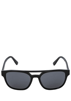 Slim Black Acetate Sunglasses