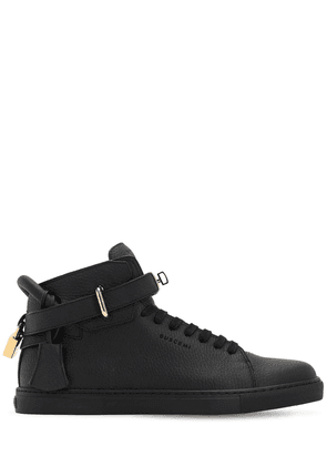 100mm Alce High Top Leather Sneakers