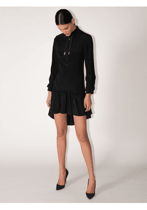 Spiral Viscose & Silk Shirt Dress