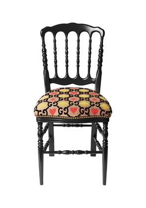 Gg Heart & Bee Jacquard Chair
