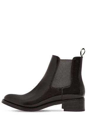 40mm Monmouth Brushed Leather Boots