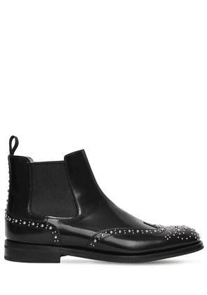 20mm Ketsby Studded Brogue Leather Boots
