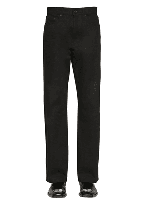 Cropped Organic Japanese Denim Trousers