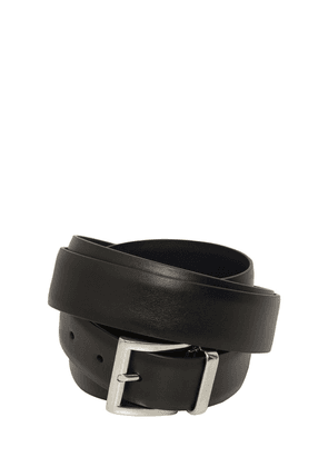 3.5cm Calfskin Double Belt W/ Buckle