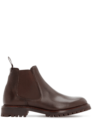 Cornwood Grained Leather Chelsea Boots