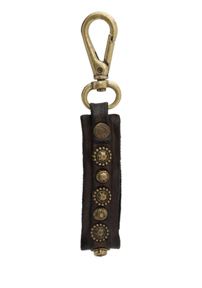 Studded Leather Keychain