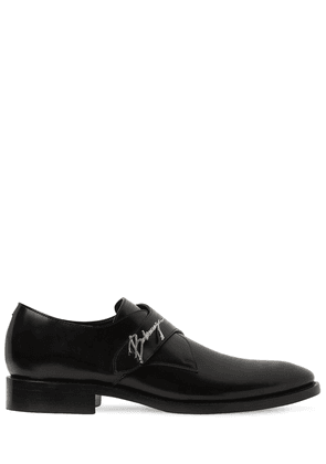 Leather Slip-on Shoes W/ Metal Logo