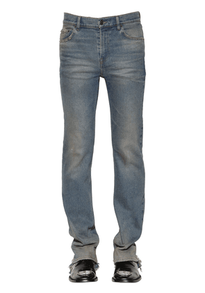 Distressed Slim Fit Stretch Denim Jeans