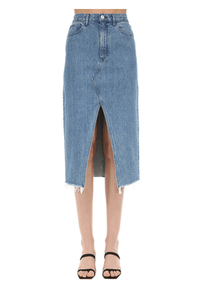 Elizabella Cotton Denim Midi Skirt