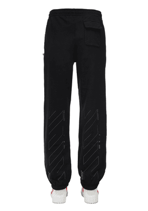 Slim Unfinished Cotton Jersey Sweatpants