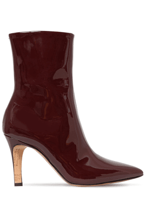 90mm Patent Leather Ankle Boots