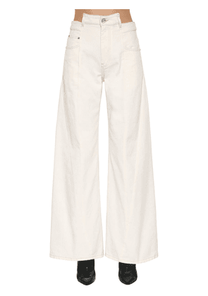 Wide Leg Cotton Drill Pants