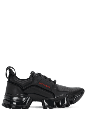 Perforated Leather Jaw Sneakers