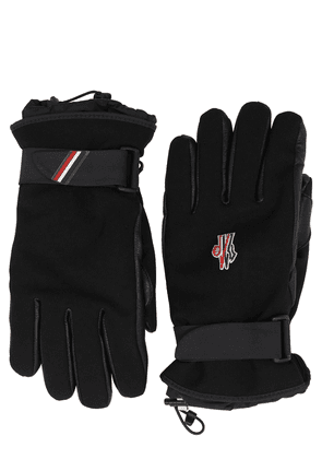 Logo Faux Leather Gloves