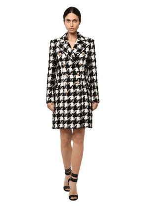 Wool Blend Hounds Tooth Coat