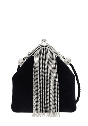 Muse Embellished Velvet Evening Clutch