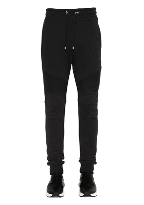 Cotton Jersey Biker Sweatpants