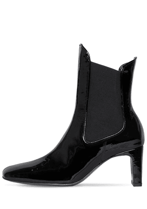 60mm Patent Leather Chelsea Boots