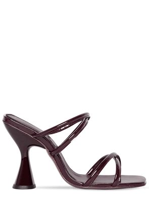 100mm Stainless Patent Leather Sandals