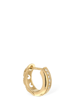 18kt Gold & Diamonds Hoop Mono Earring