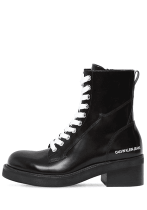 50mm Ebba Brushed Leather Ankle Boots