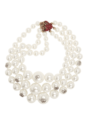 Gucci White Strawberry Pearl Necklace