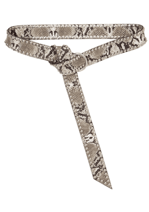 40mm Mia Moto Python Print Leather Belt
