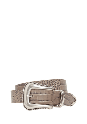 20mm Wylder Croc Embossed Leather Belt