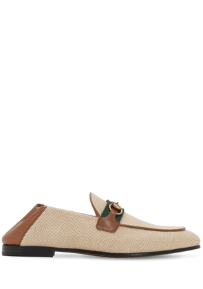 10mm Brixton Cotton Canvas Loafers