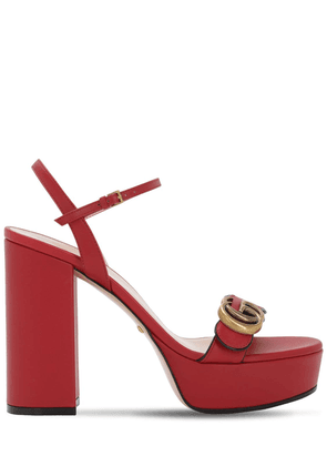 120mm Marmont Leather Sandals
