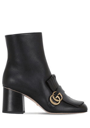 75mm Marmont Fringed Leather Boots