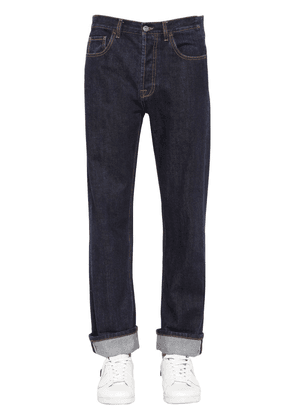 Baggy & Cropped Cotton Denim Jeans