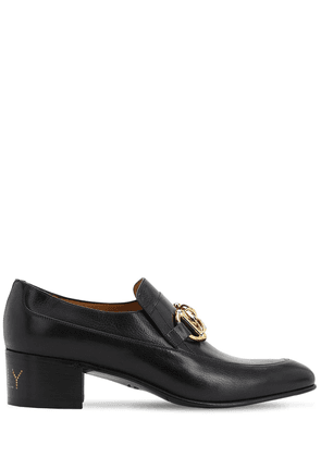 45mm Leather Loafers W/chain Detail