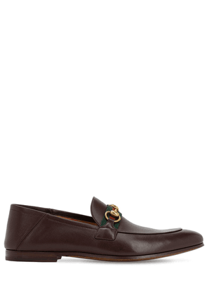 10mm Leather Foldabled Loafers W/ Web