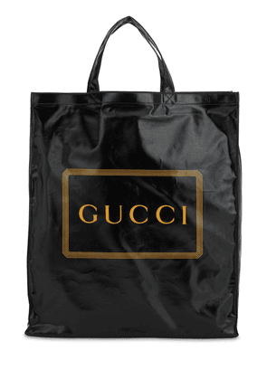 Logo Printed Coated Canvas Tote Bag