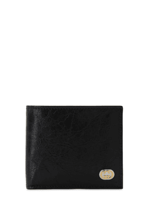 Gg Metal Logo Leather Classic Wallet