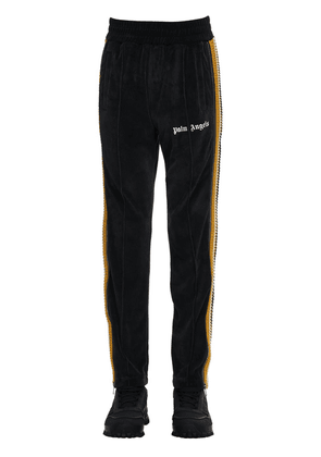 Cotton Chenille Track Pants W/ Side Zip