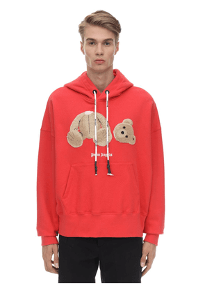 Cotton Jersey Hoodie W/ Bear Patch