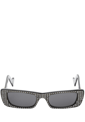 Embellished Squared Acetate Sunglasses