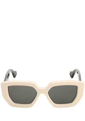 Bicolor Squared Acetate Sunglasses