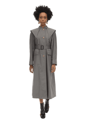 Oversize Cotton Blend Trench Coat