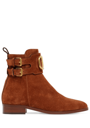 25mm Vlogo Suede Ankle Boots