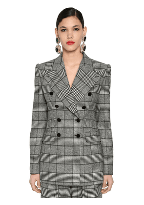 Double Breast Prince Of Wales Jacket